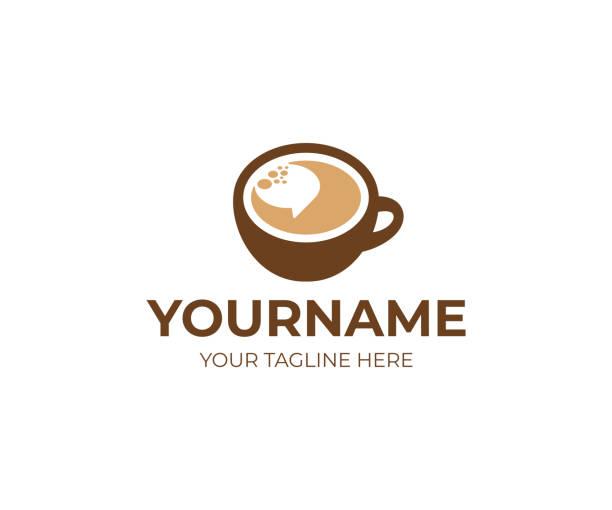 filiżanka kawy i mowy bubble design. konstrukcja wektora przerwy na kawę. projekt kawiarni - coffee stock illustrations