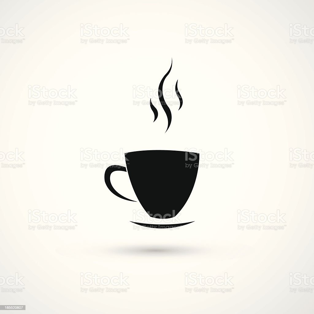 cup of coffee icon royalty-free stock vector art