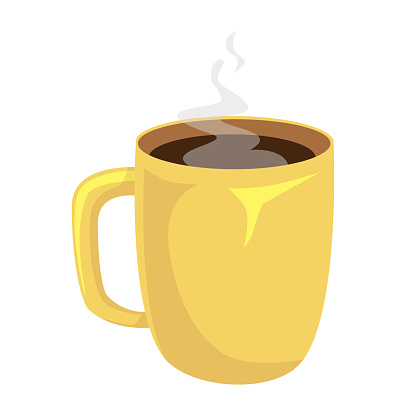 Cup of coffee isolated. Coffee cup vector illustration