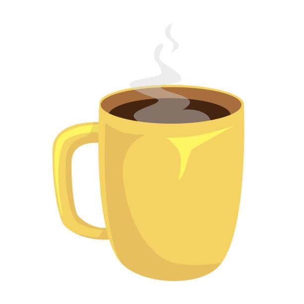 bildbanksillustrationer, clip art samt tecknat material och ikoner med kopp kaffe isolerade. kaffekopp vektorillustration - kaffekopp