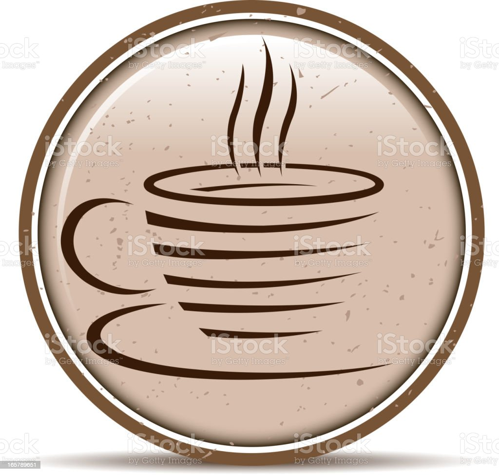 cup of coffee label royalty-free stock vector art