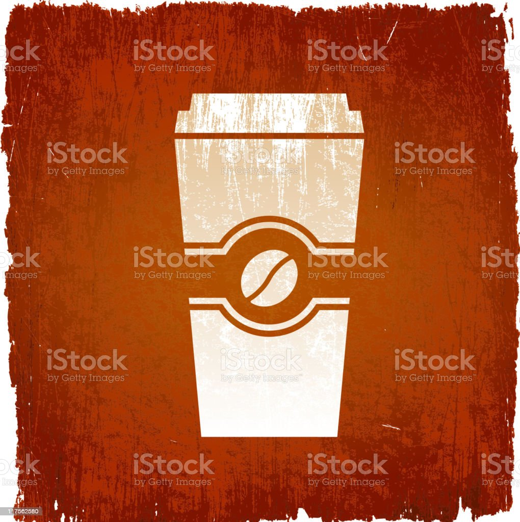 cup of coffee on royalty free vector Background royalty-free stock vector art
