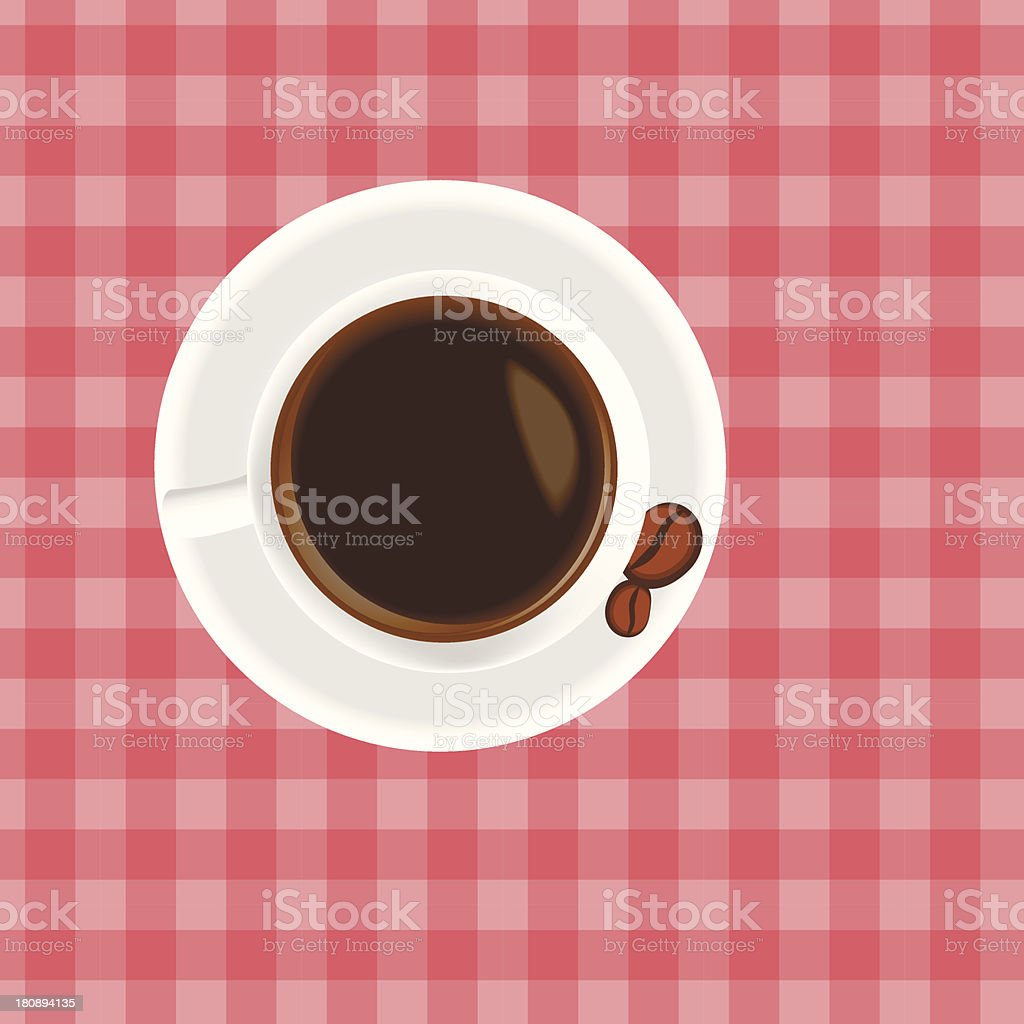 Cup of coffee on the table royalty-free stock vector art