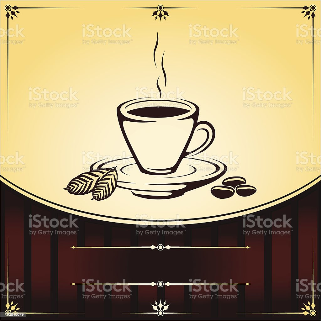 Cup of Coffee Vector Background royalty-free cup of coffee vector background stock vector art & more images of abstract