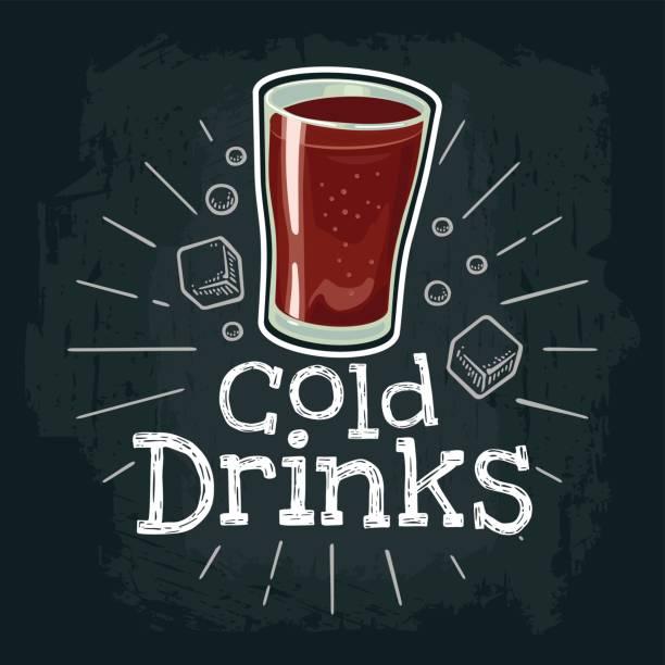 ilustrações, clipart, desenhos animados e ícones de xícara de café. ilustração em vetor plana com raios, rotulação, bolha de gravura - refrigerante