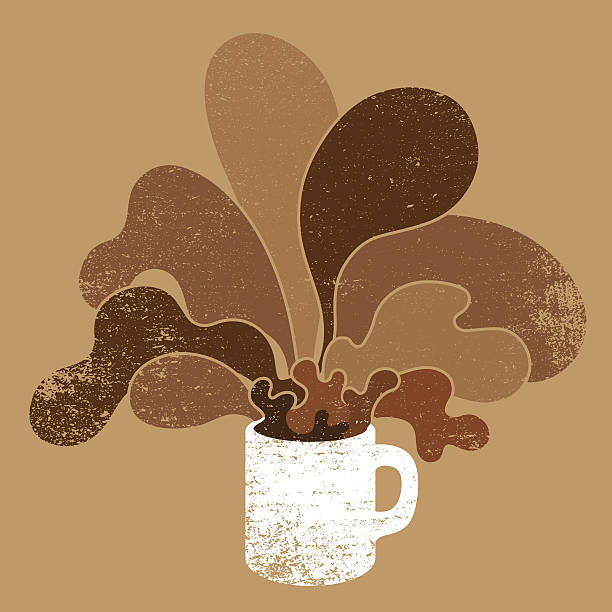 Cup of coffee Vector illustration of hot coffee. hot chocolate stock illustrations