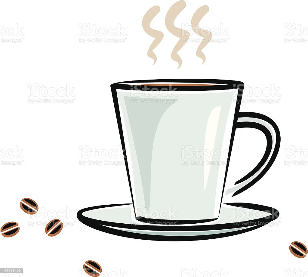 Cup of Coffee royalty-free cup of coffee stock vector art & more images of black color