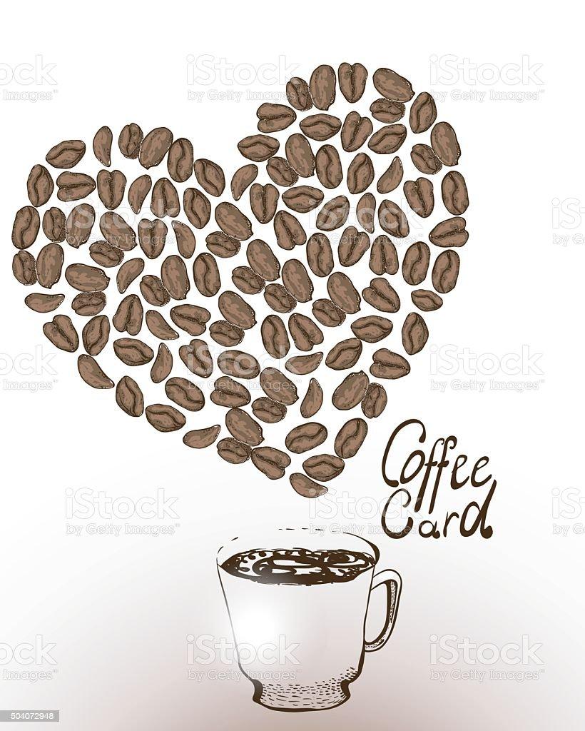 Tasse Coffeea Vorlage Für Einen Kaffeekarte Stock Vektor Art und ...