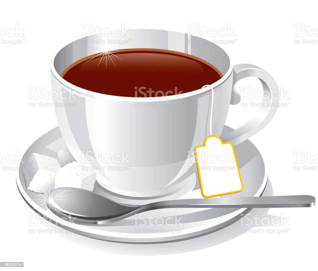 A cup of dark tea on a white background royalty-free a cup of dark tea on a white background stock vector art & more images of afternoon tea
