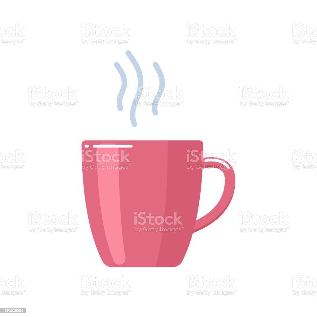 Tasse de délicieux thé chaud sucré avec du sucre, boisson parfumée - Illustration vectorielle