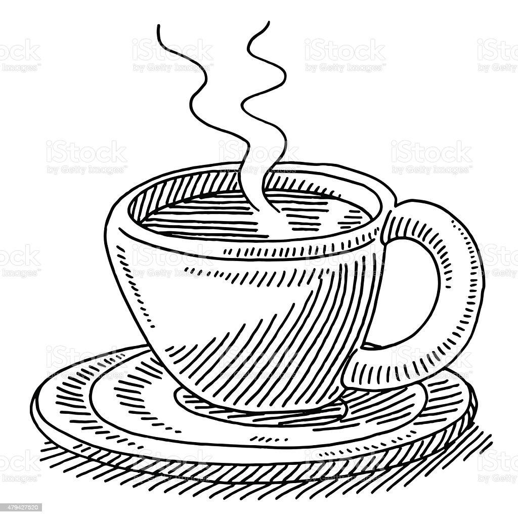 Tazza Di Caffè Fresco Disegno Immagini Vettoriali Stock E Altre