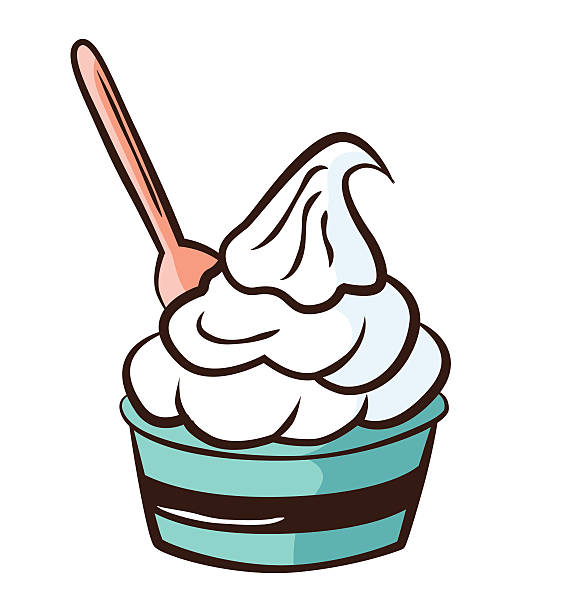 Yogurt Line Drawing : Royalty free frozen yogurt clip art vector images