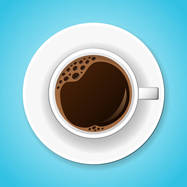 cup of tasty coffee. vector illustration. - coffee cup stock illustrations, clip art, cartoons, & icons