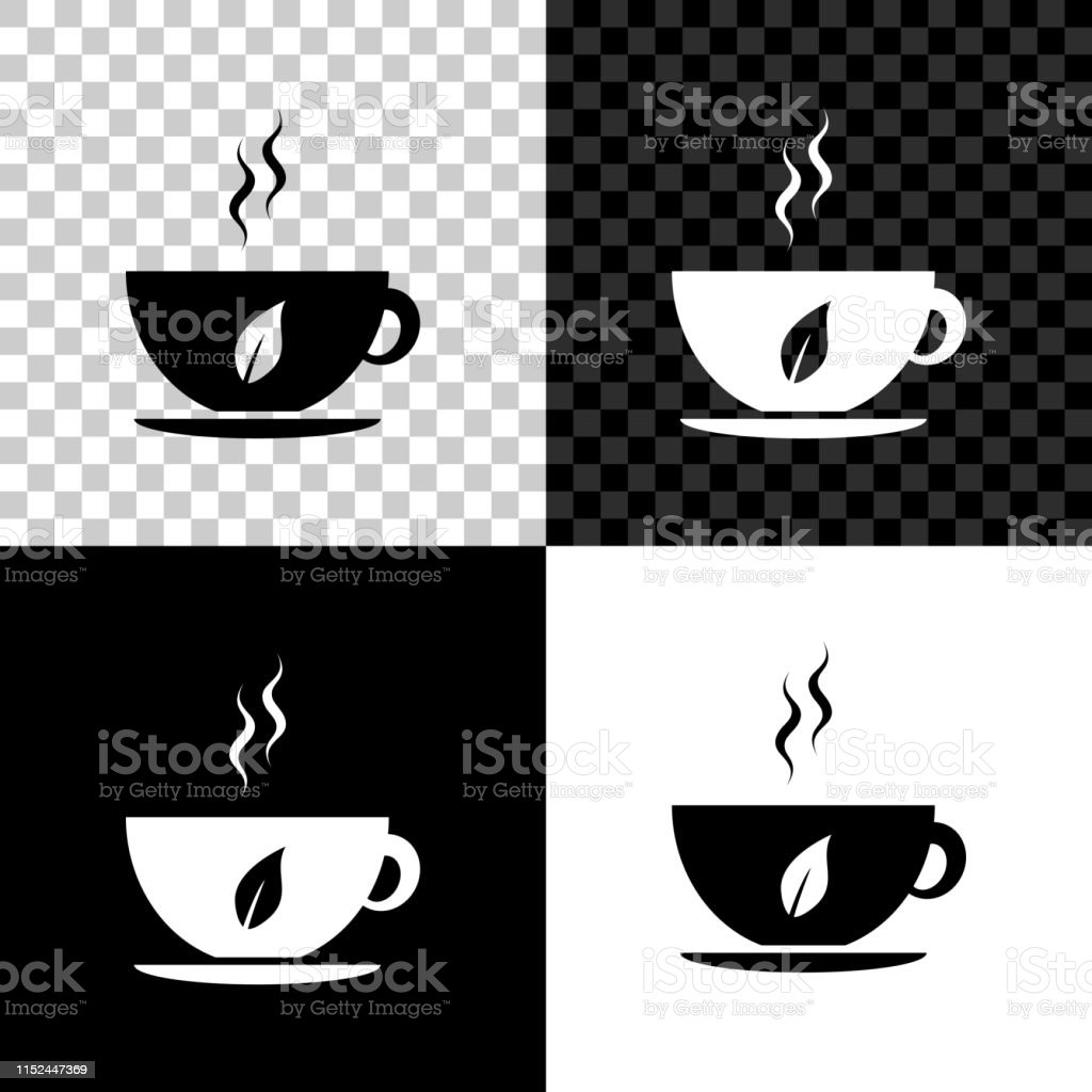 cup of tea and leaf icon isolated on black white and transparent background vector illustration stock illustration download image now istock cup of tea and leaf icon isolated on black white and transparent background vector illustration stock illustration download image now istock