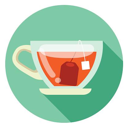cup of tea flat design icon