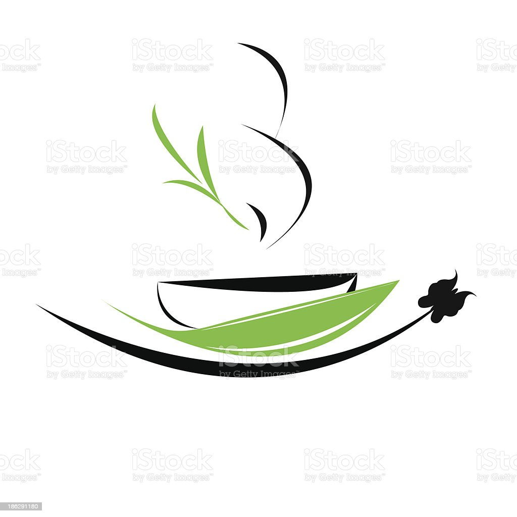 cup of tea icon royalty-free stock vector art