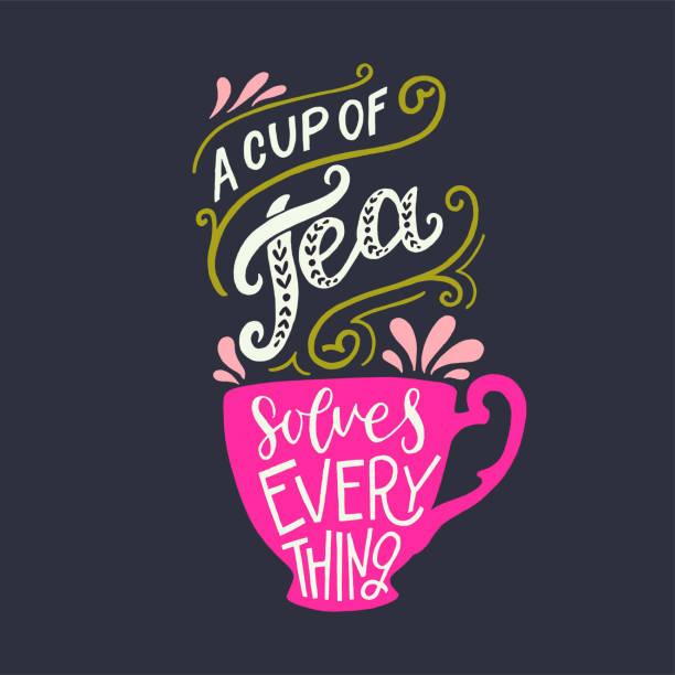 stockillustraties, clipart, cartoons en iconen met een cup of tea lost everything offerte - theekop