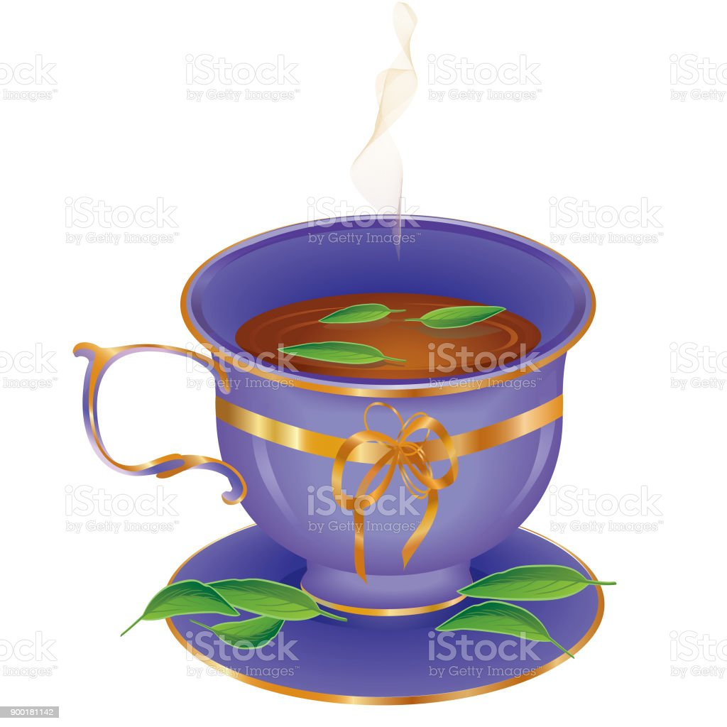 Cup of tea vector art illustration