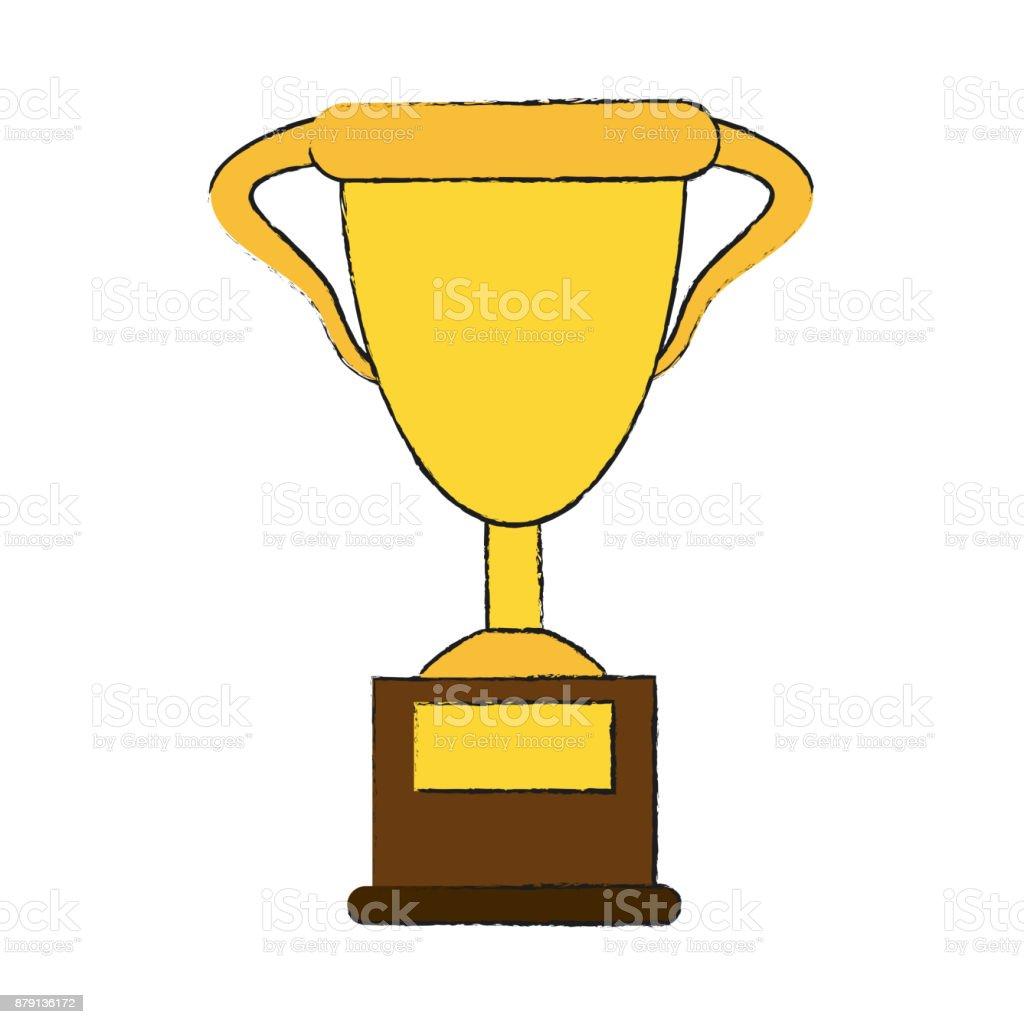 Cup Trophy Symbol Stock Vector Art More Images Of Achievement