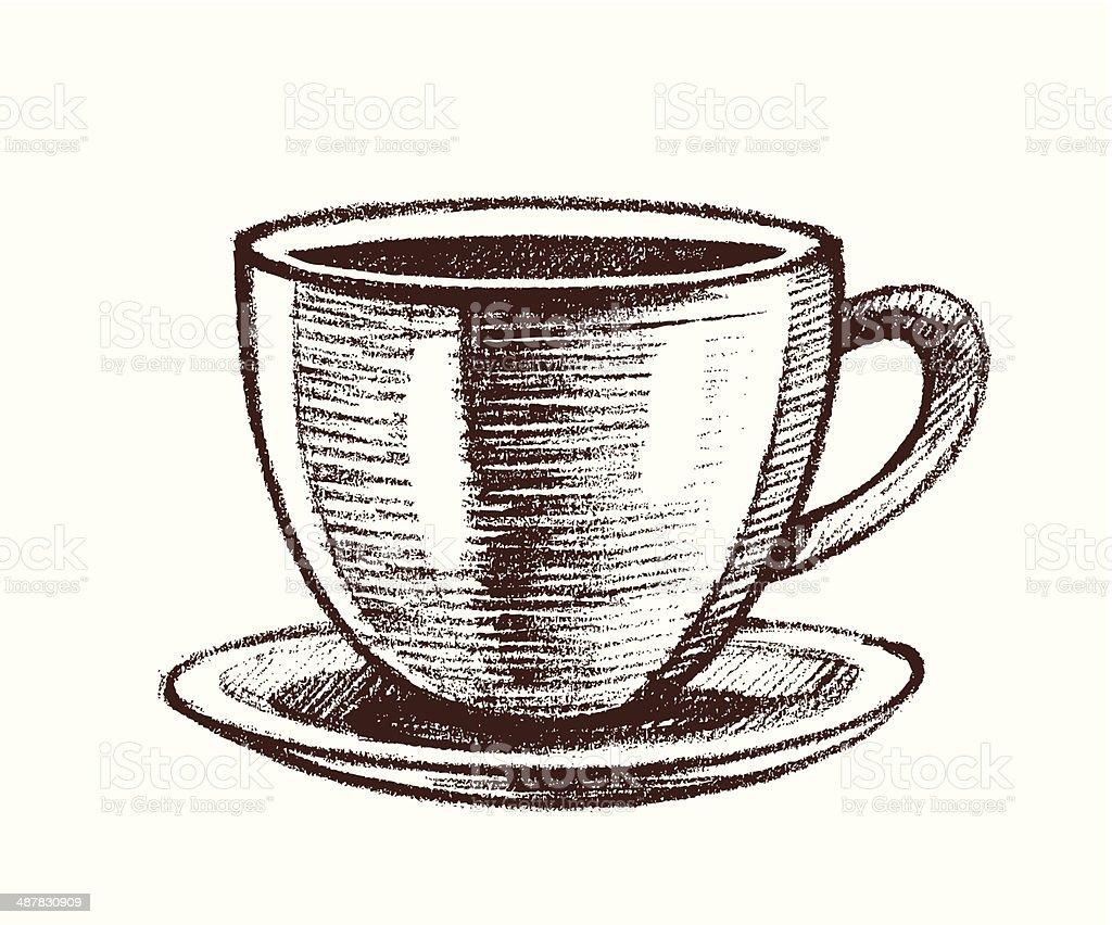 cup vector art illustration