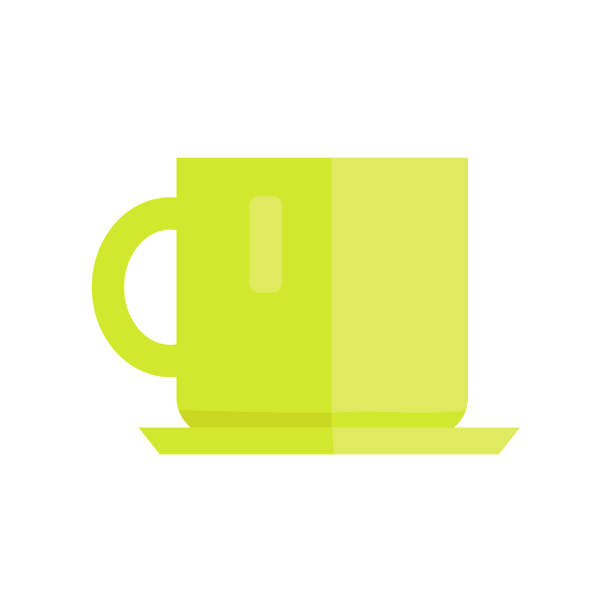 ilustrações de stock, clip art, desenhos animados e ícones de cup vector illustration in flat style design. - lapa
