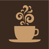Cup with floral vintage design elements