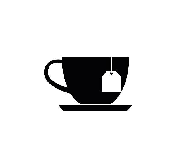 stockillustraties, clipart, cartoons en iconen met cup with tea bag icon - theekop