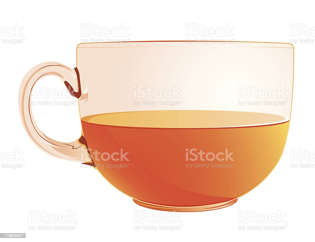 cup with tea royalty-free stock vector art
