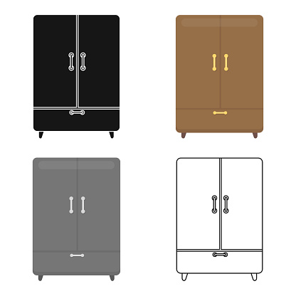 Cupboard icon of vector illustration for web and mobile