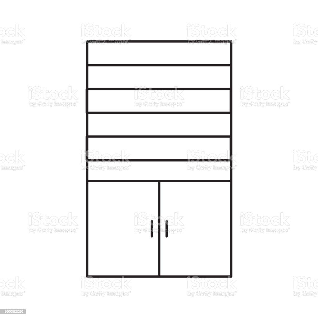 cupboard line icon cupboard line icon - stockowe grafiki wektorowe i więcej obrazów antyczny royalty-free