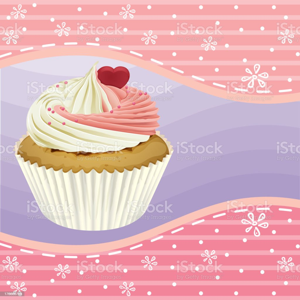 cupcake and a wallpaper royalty-free cupcake and a wallpaper stock vector art & more images of baked