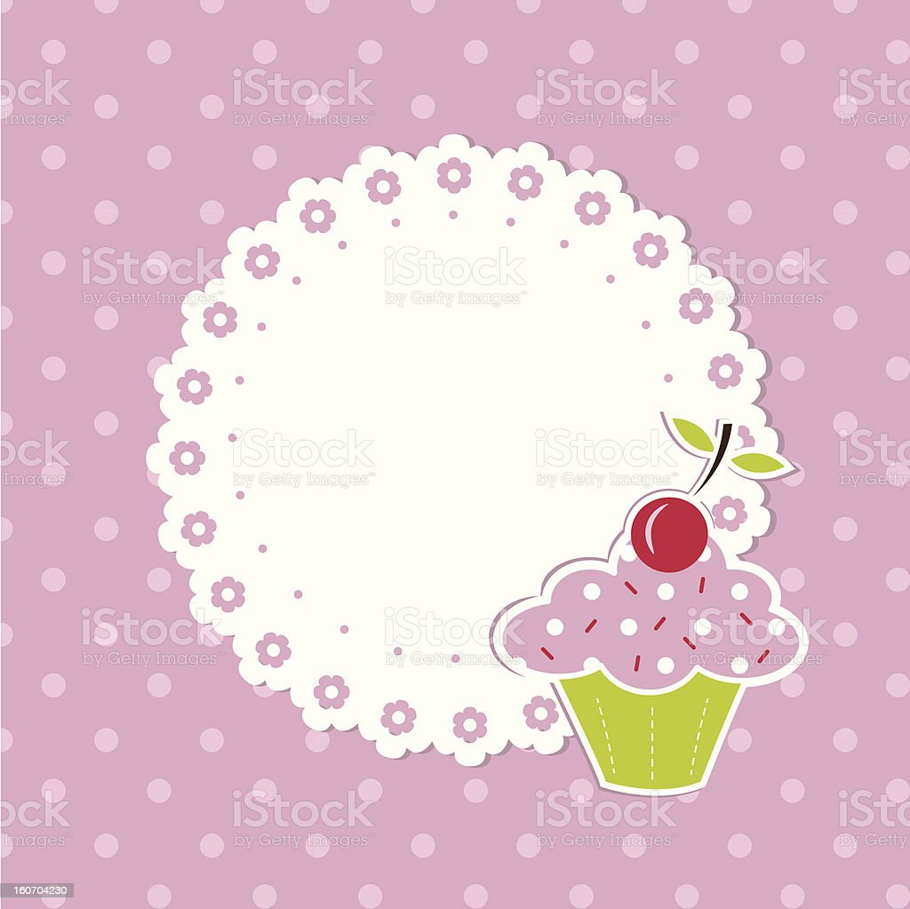 Cupcake background royalty-free stock vector art