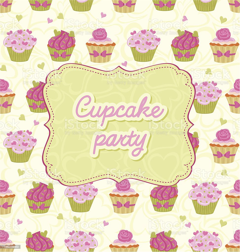 Cupcake Card royalty-free cupcake card stock vector art & more images of backgrounds