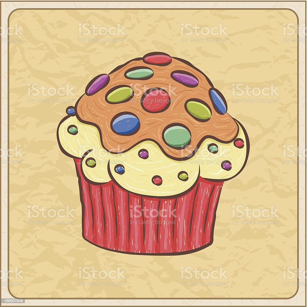 Cupcake Card royalty-free stock vector art