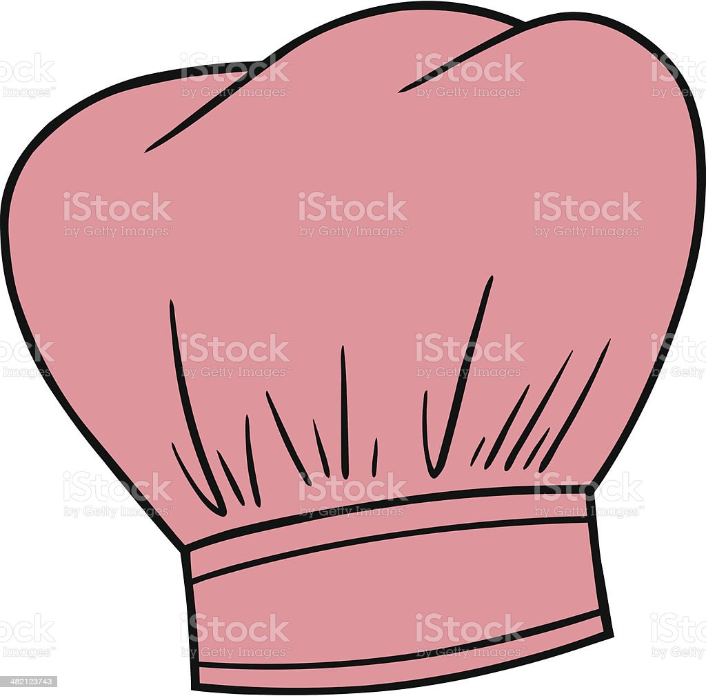 royalty free pink chef hat clip art vector images illustrations rh istockphoto com chef hat clipart transparent chef hat clip art images