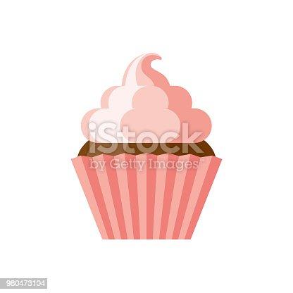 istock Cupcake Flat Design Dessert Icon 980473104