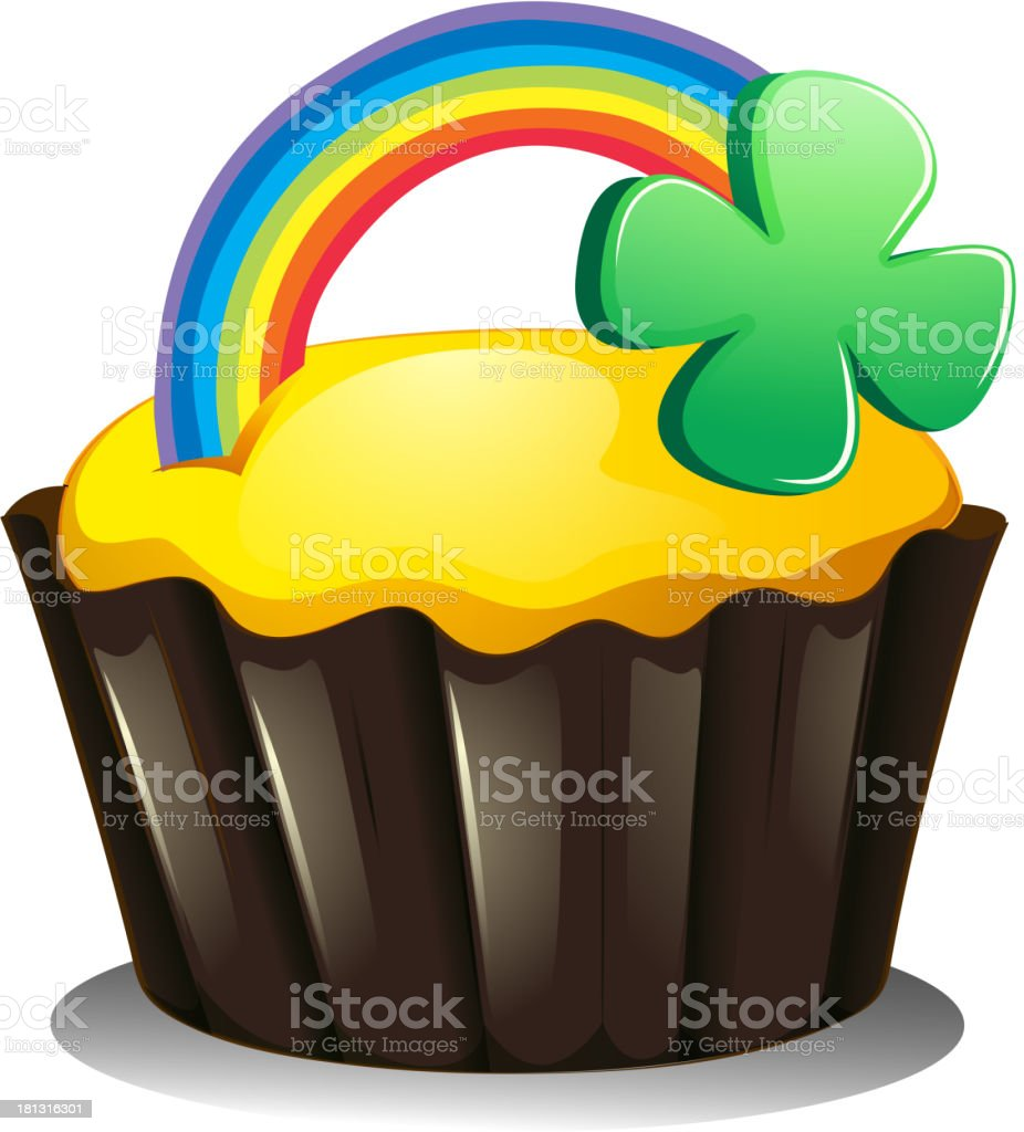 cupcake for St. Patrick's Day royalty-free stock vector art