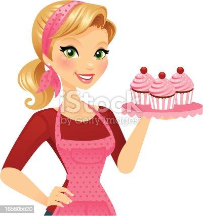 istock Cupcake Girl 165805520