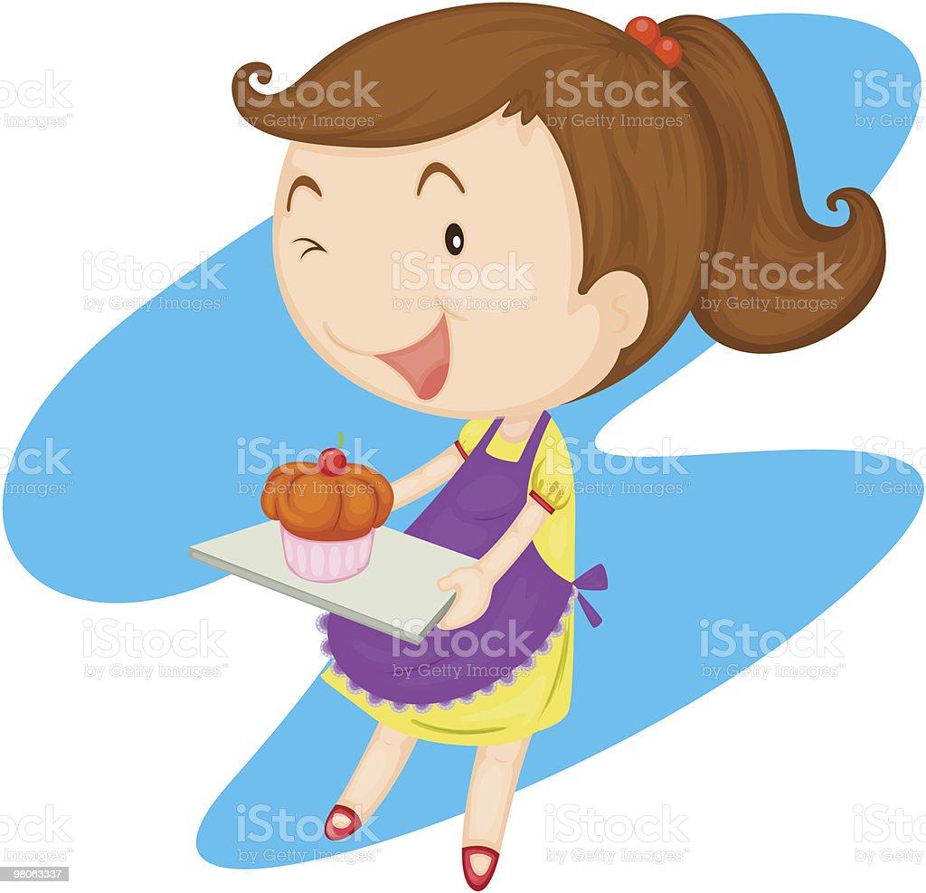 Cupcake girl royalty-free cupcake girl stock vector art & more images of apron