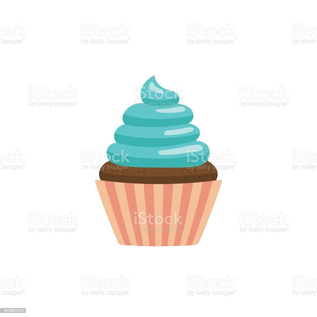 cupcake icon flat vector art illustration