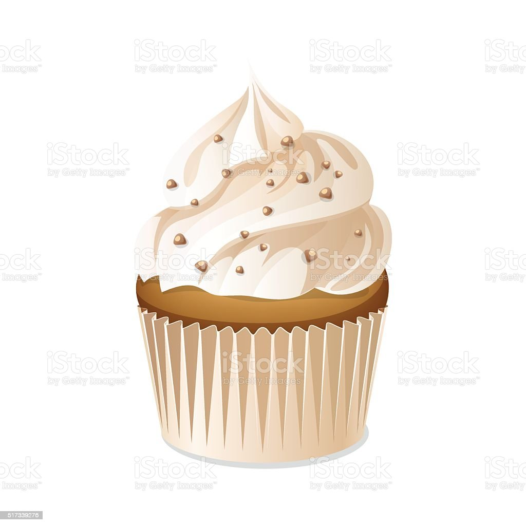 Cupcake icon isolated on a white background. vector art illustration