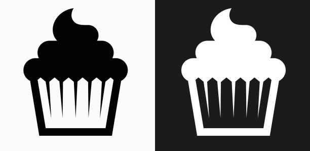 Cupcake Fond Noir Vectoriels Et Illustrations Libres De