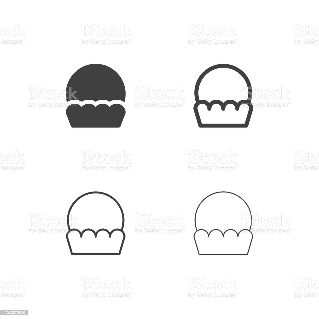 Cupcake Icons - Multi Series vector art illustration