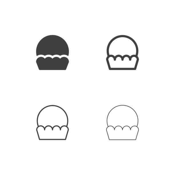 Cupcake Icons - Multi Series vector art illustration