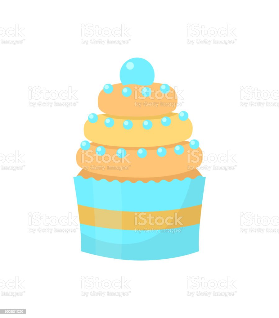 Cupcake. Isolated on white background. Vector illustration. - Royalty-free Baked Pastry Item stock vector