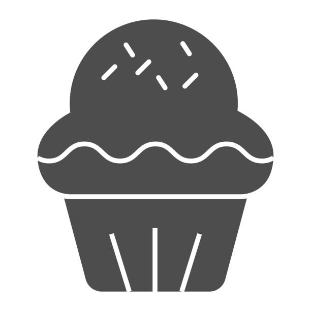 Cupcake solid icon. Pastry cake dessert, delicious sweet muffin symbol, glyph style pictogram on white background. Bakery shop sign for mobile concept and web design. Vector graphics. Cupcake solid icon. Pastry cake dessert, delicious sweet muffin symbol, glyph style pictogram on white background. Bakery shop sign for mobile concept and web design. Vector graphics decorating a cake stock illustrations