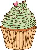 Vector illustration of cupcake.
