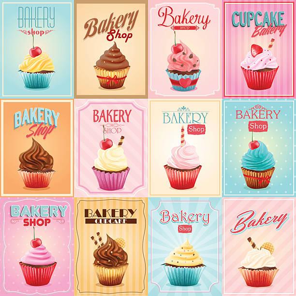 cupcake - cupcake stock illustrations, clip art, cartoons, & icons