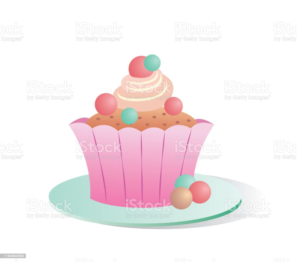 cupcake vector illustration isolated on white background stock illustration download image now istock cupcake vector illustration isolated on white background stock illustration download image now istock
