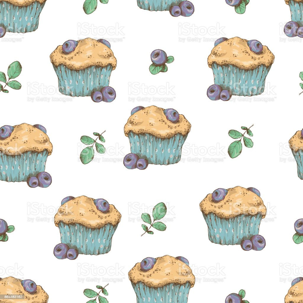 cupcake vector pattern happy birthday cupcake background cupcake
